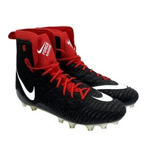 NEW Nike Force Savage Cleats Red Black Size 18